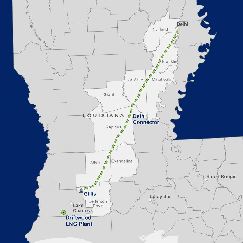 Delhi Connector Pipeline Map